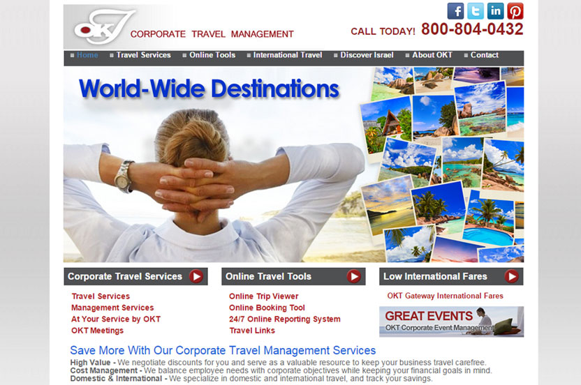OKT Travel - Corporate Travel Managment